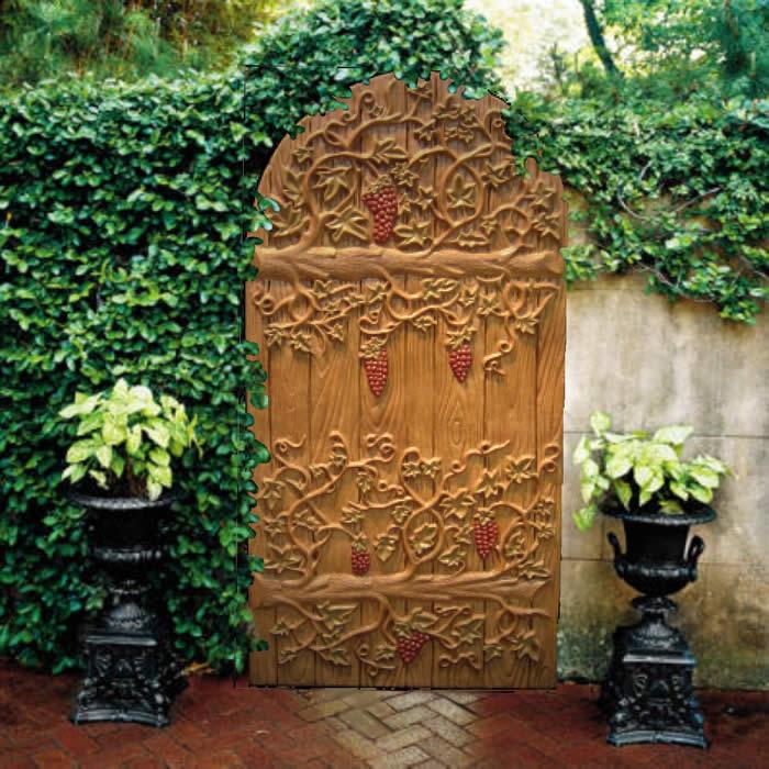 Grape Vine Door In Garden New Heaven On Earth