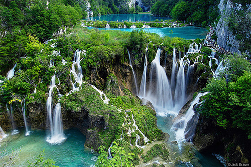Waterfall-plitvice in Croatia