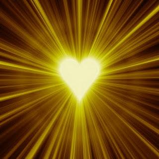 Heart Rays of sunlight