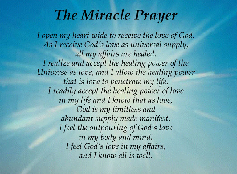 miracle prayer-melchizedeklearning com | New Heaven on Earth!