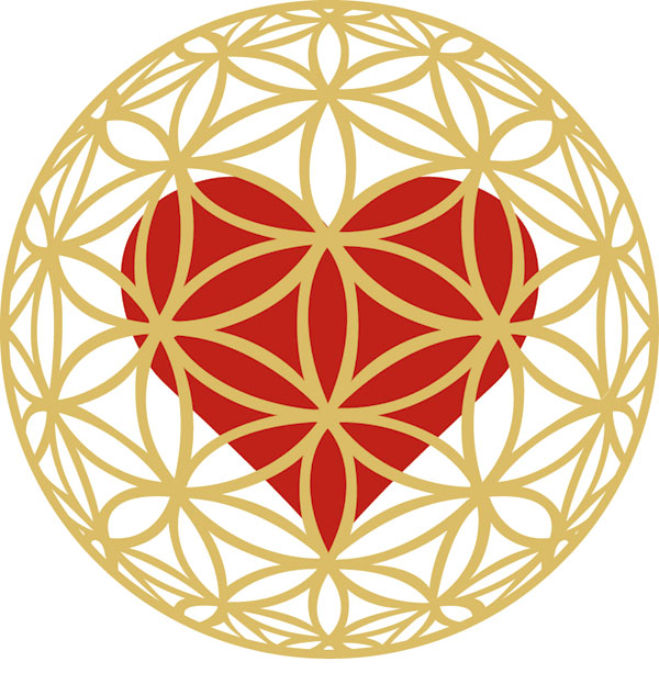 Tree of Life, gold filigree heart
