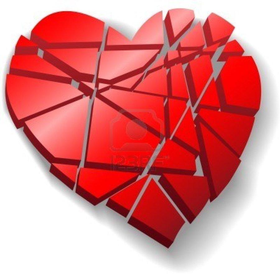 4660394 A Heartbroken Shattered Red Valentine Heart Symbol Of Love