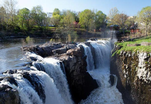 High Angle View of the Great Falls of Passaic River, Paterson, N