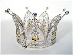 Crowned with Gold and Silver: Christ and Holy Spirit, wearing the white Wedding Garment of Abba Father!