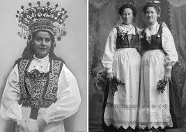 Bunad with marriage headdress.